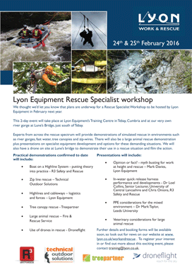 Lyon Equipment Specialist Rescue Workshop